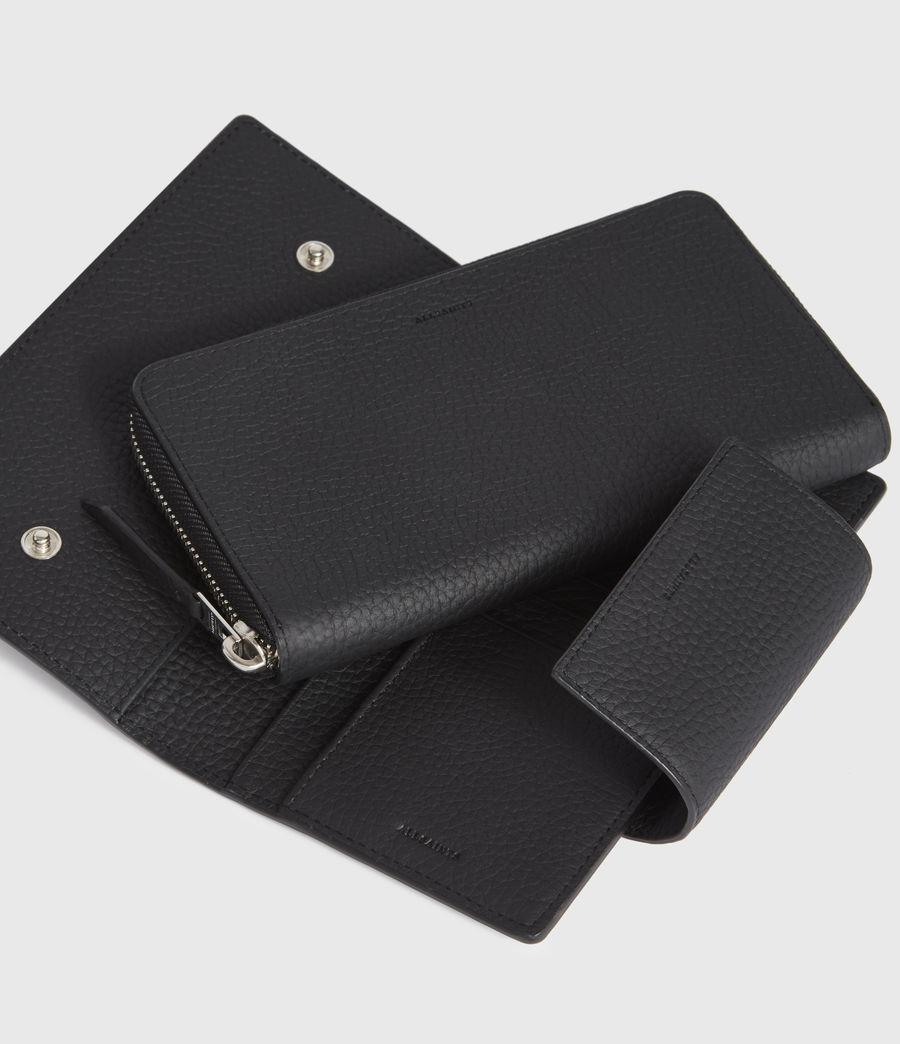 Women's Captain Leather Wallet (black) - Image 2