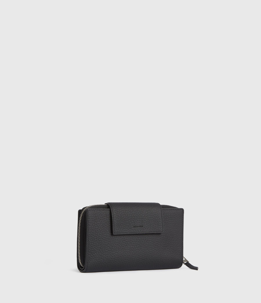 Womens Captain Leather Wallet (black) - Image 3