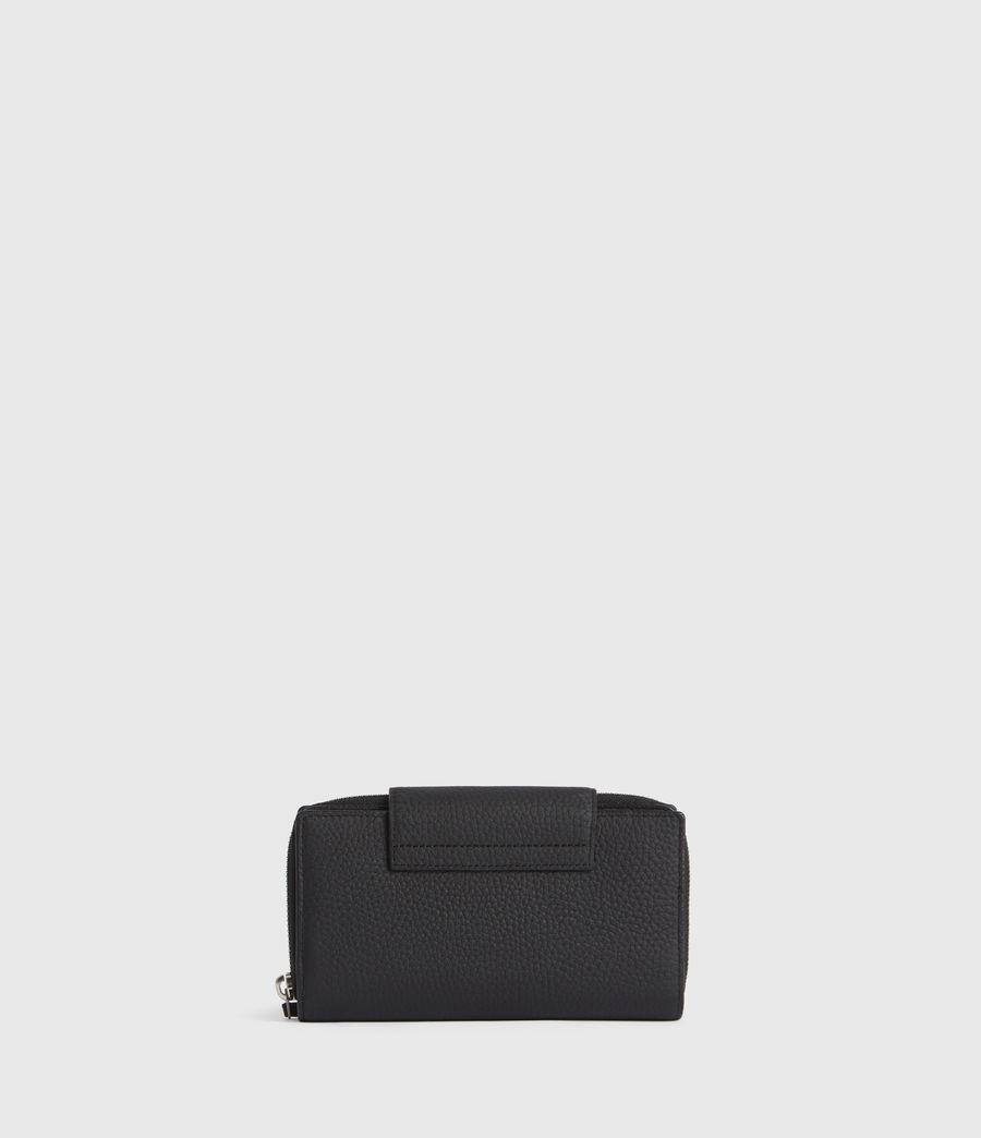 Women's Captain Leather Wallet (black) - Image 6