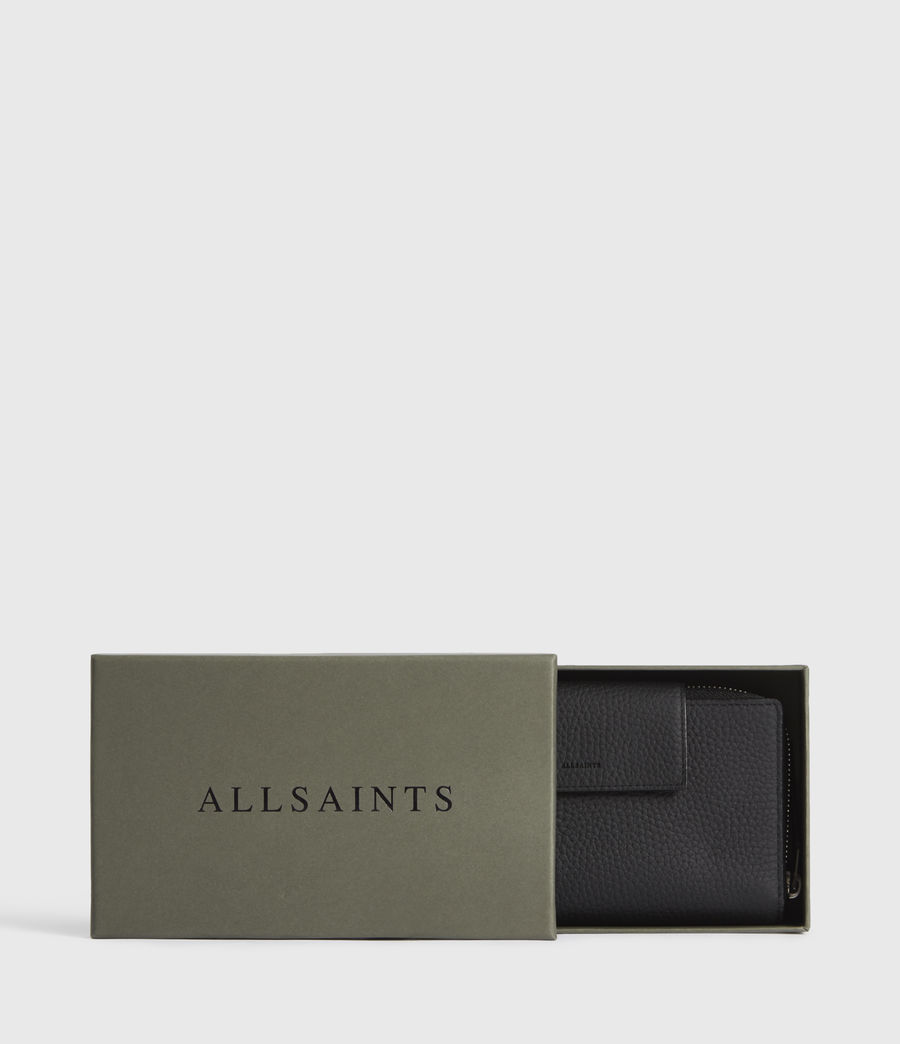 Women's Captain Leather Wallet (black) - Image 7