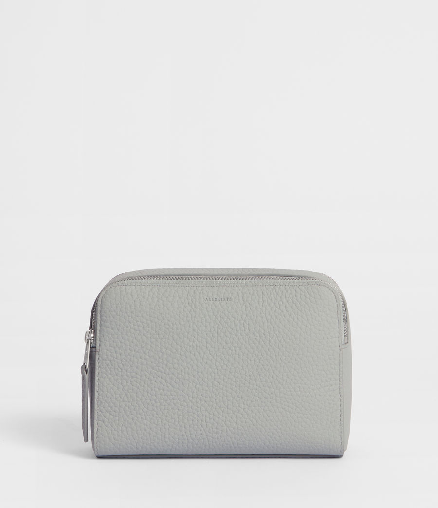 Women's Captain Leather Small Cosmetic Case (sky_blue) - Image 1