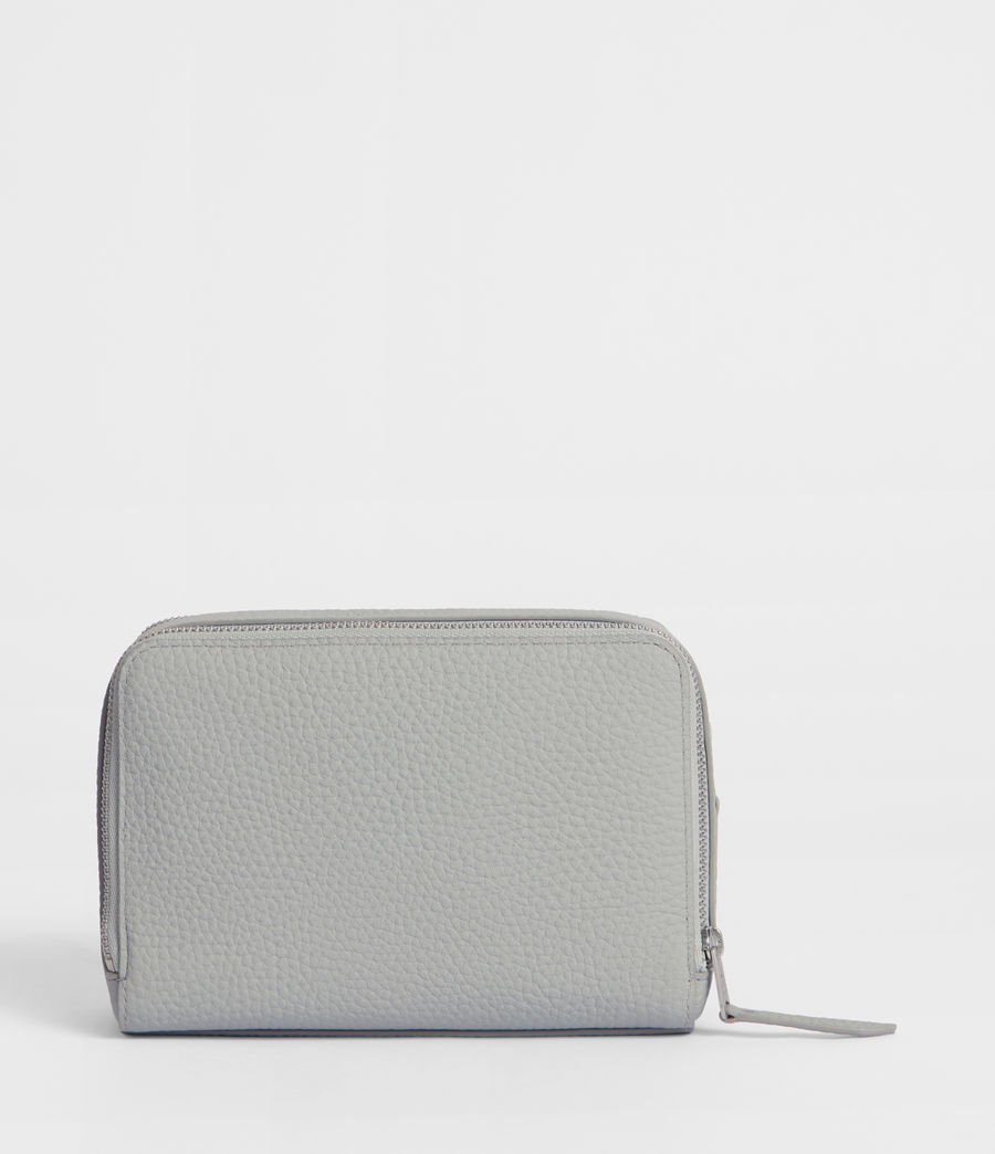 Women's Captain Leather Small Cosmetic Case (sky_blue) - Image 3