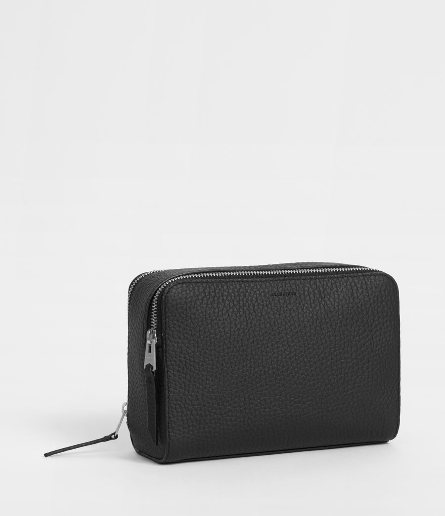Women's Captain Leather Small Cosmetic Case (black) - Image 3