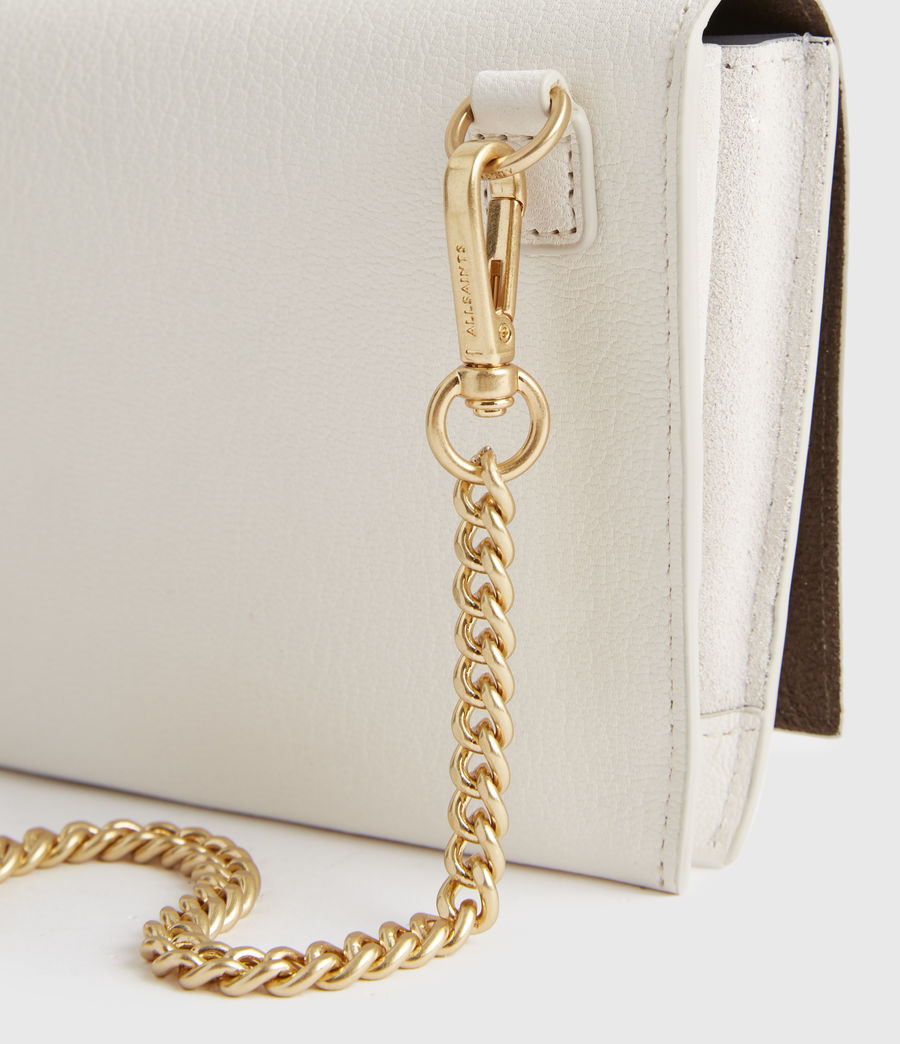Women's Albert Leather Wallet (roe_white) - Image 4