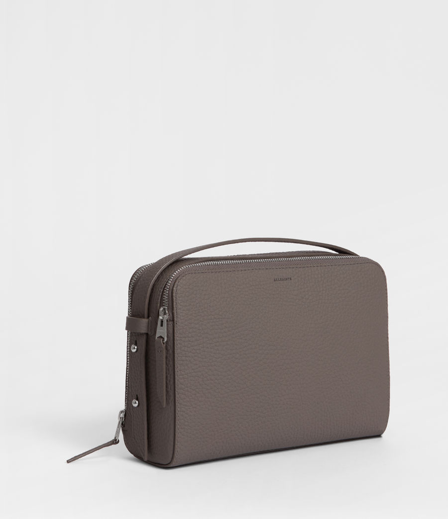 Women's Captain Leather Cosmetic Case (storm_grey) - Image 3