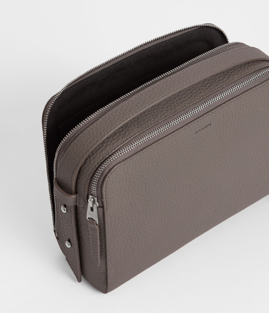 Women's Captain Leather Cosmetic Case (storm_grey) - Image 5