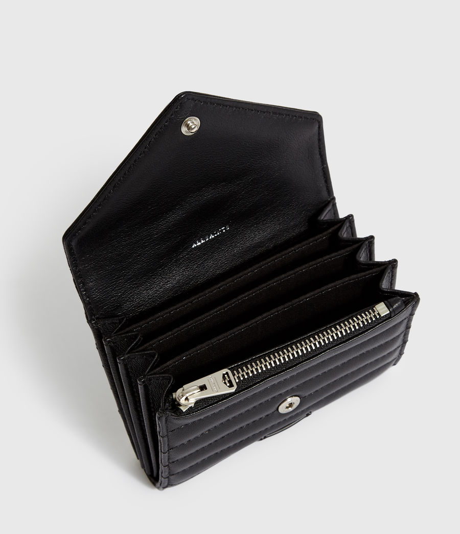 Women's Justine Flap Leather Cardholder (black) - Image 2