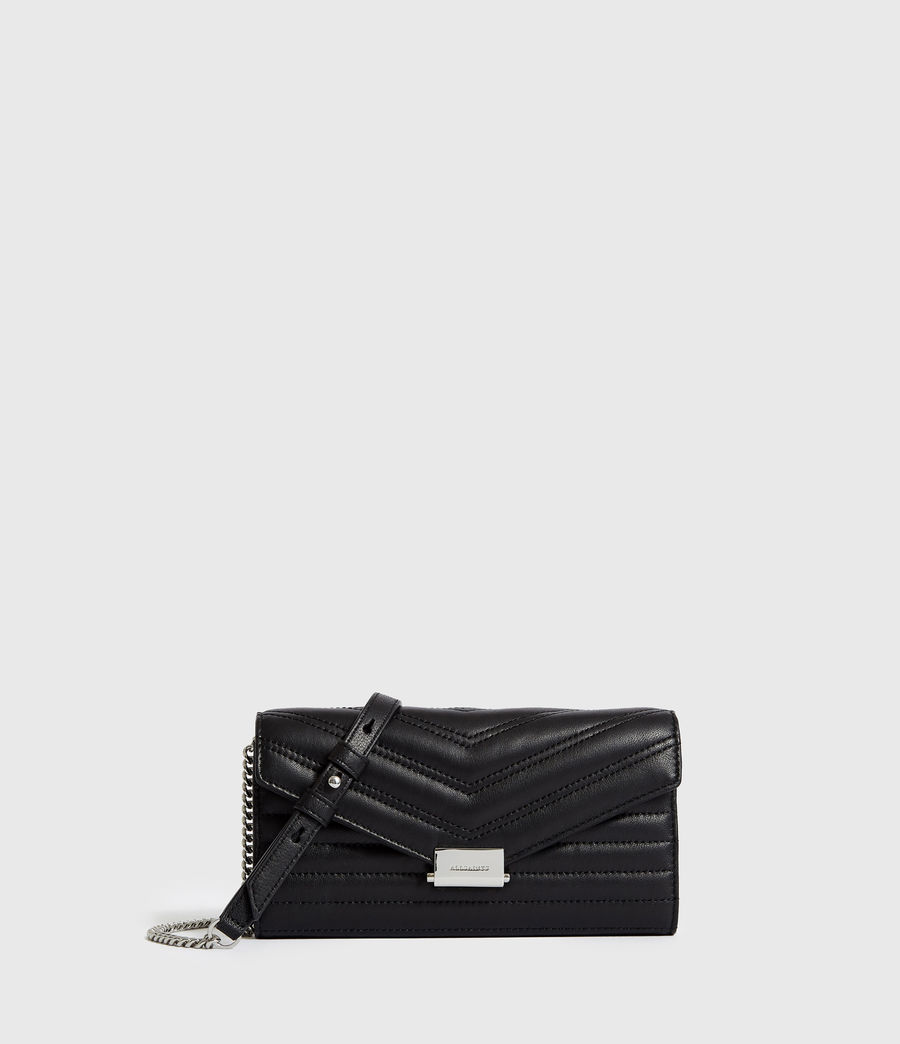 Women's Justine Chain Leather Wallet (black) - Image 1