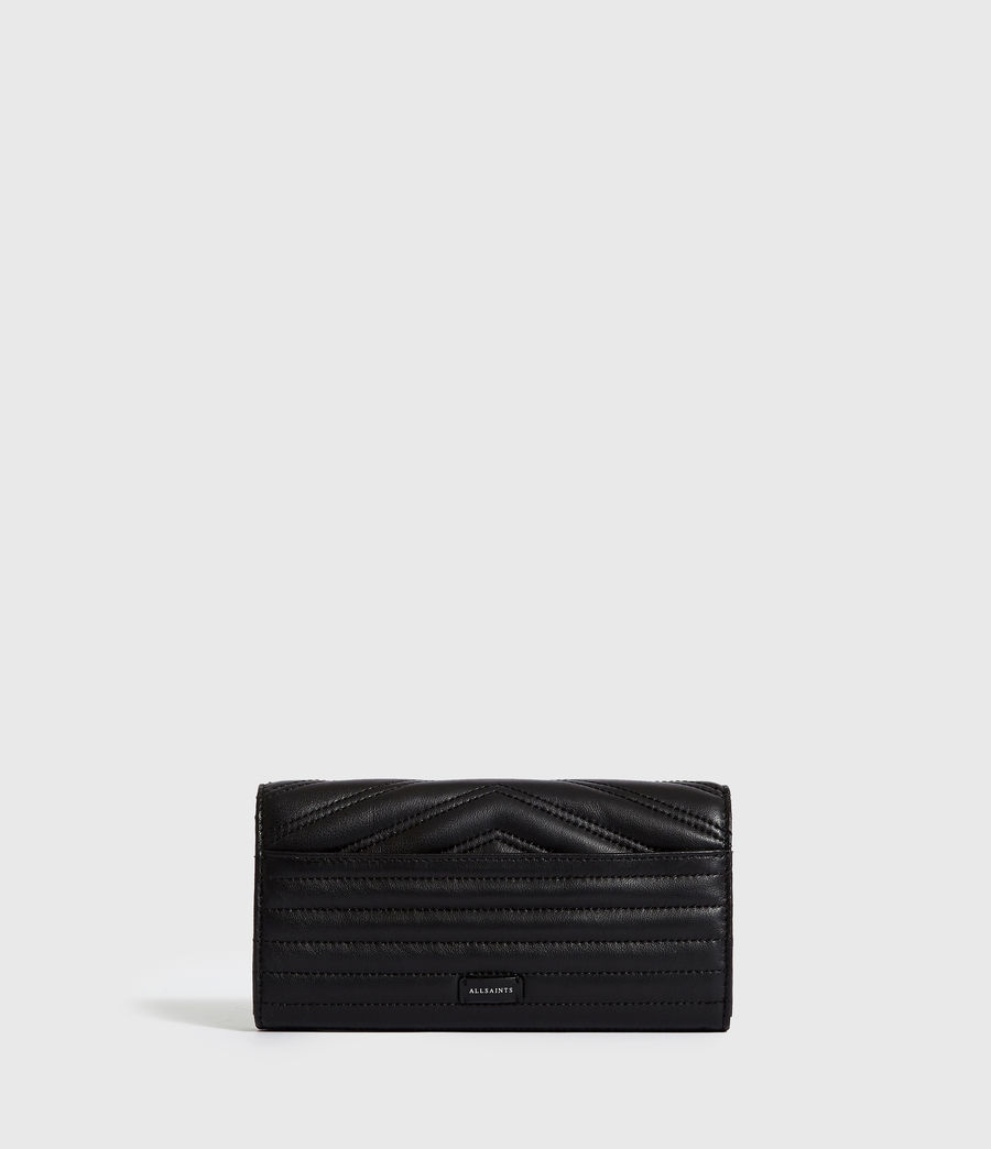 Women's Justine Chain Leather Wallet (black) - Image 5