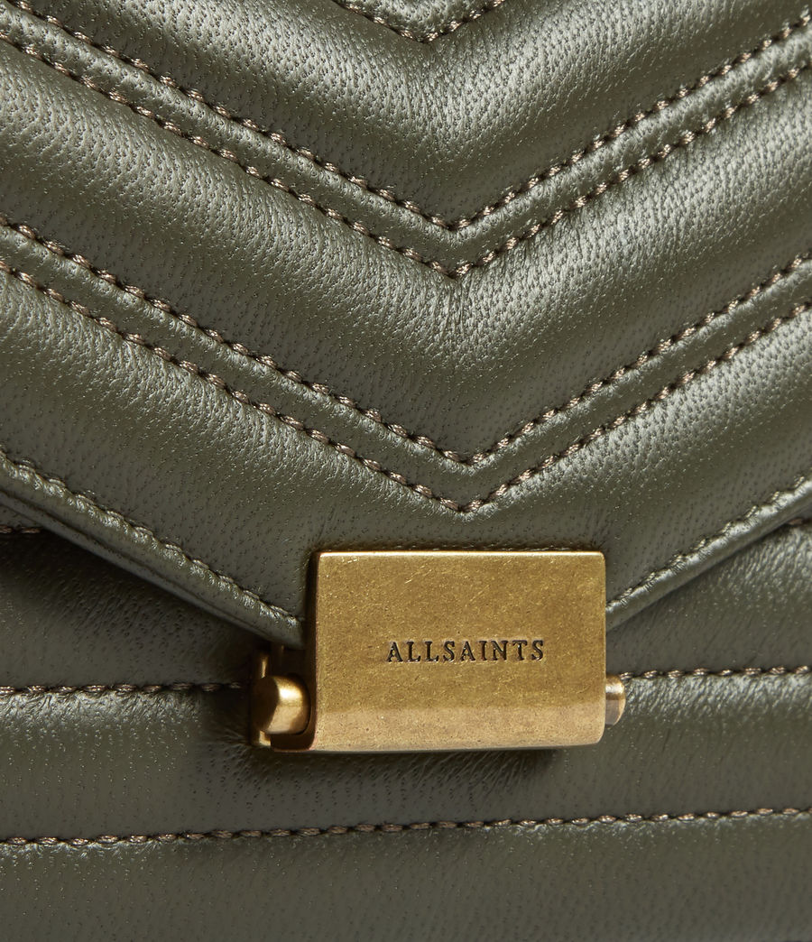 Women's Justine Chain Leather Wallet (khaki_green) - Image 4