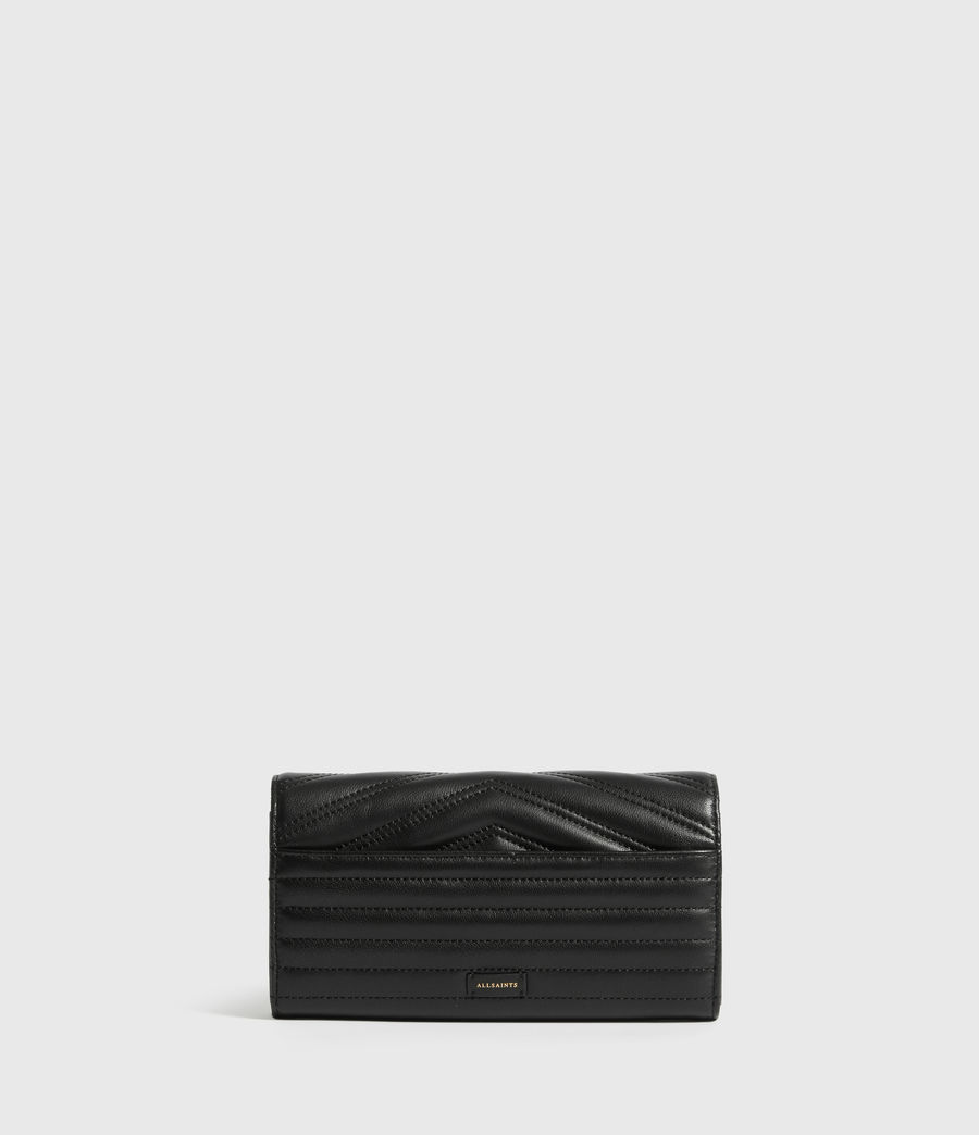 Womens Justine Chain Leather Wallet (black) - Image 4