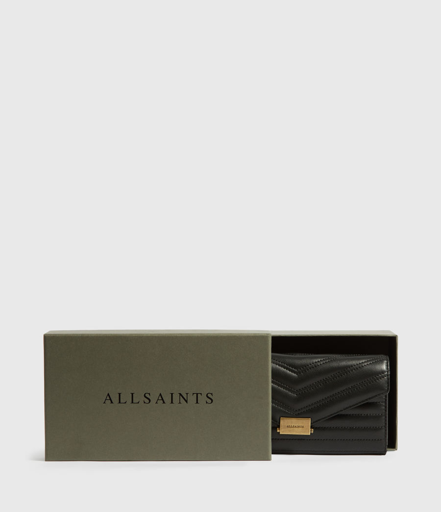 Womens Justine Chain Leather Wallet (khaki_green) - Image 5