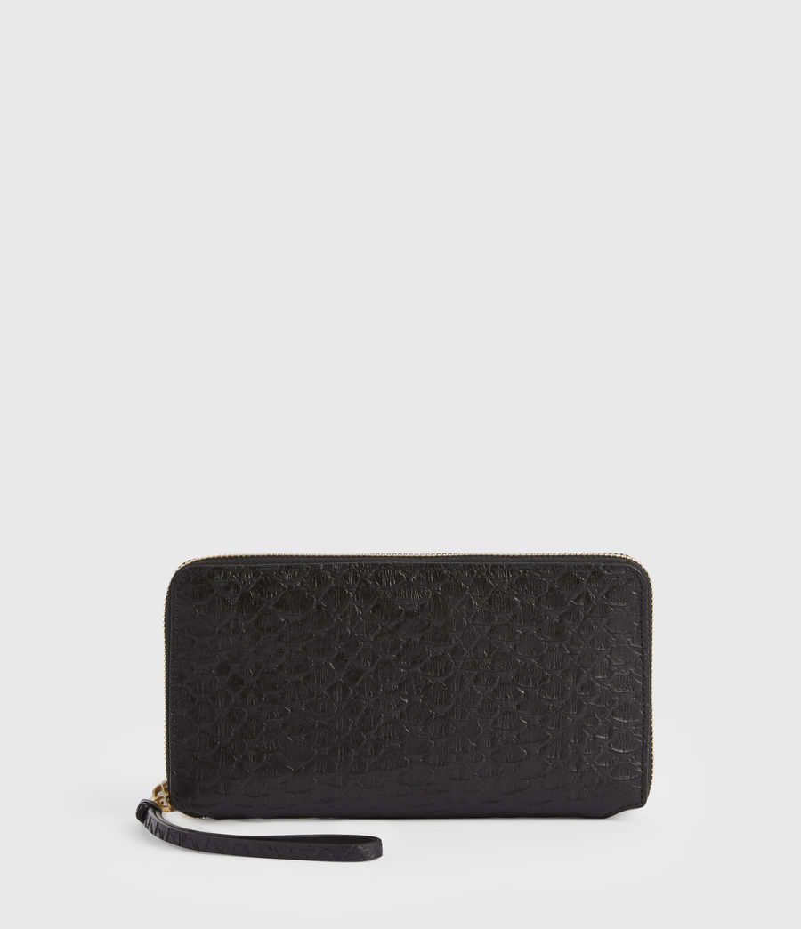 Women's Fetch Leather Phone Wristlet (black_python) - Image 1