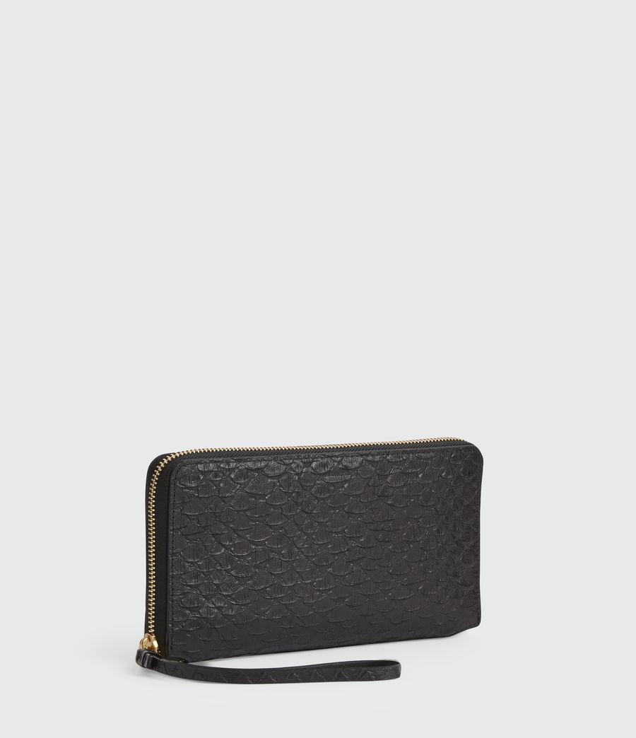 Women's Fetch Leather Phone Wristlet (black_python) - Image 3