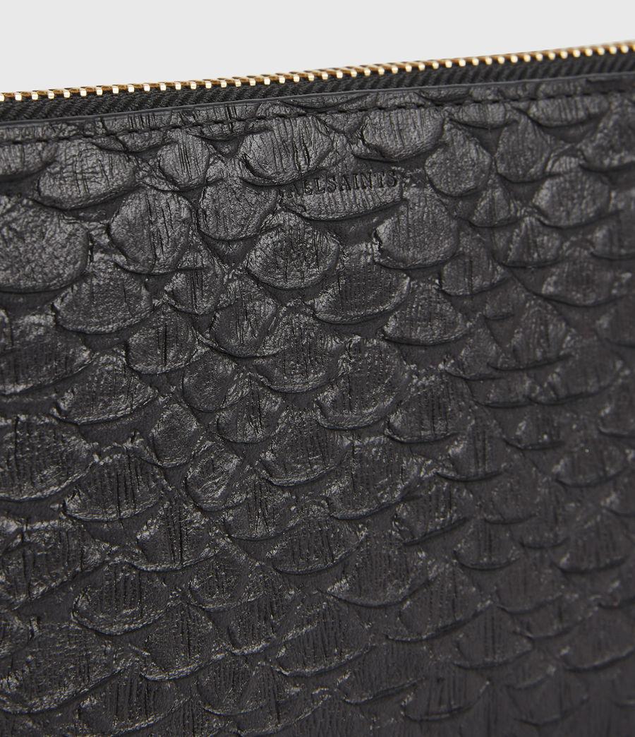 Women's Fetch Leather Phone Wristlet (black_python) - Image 4