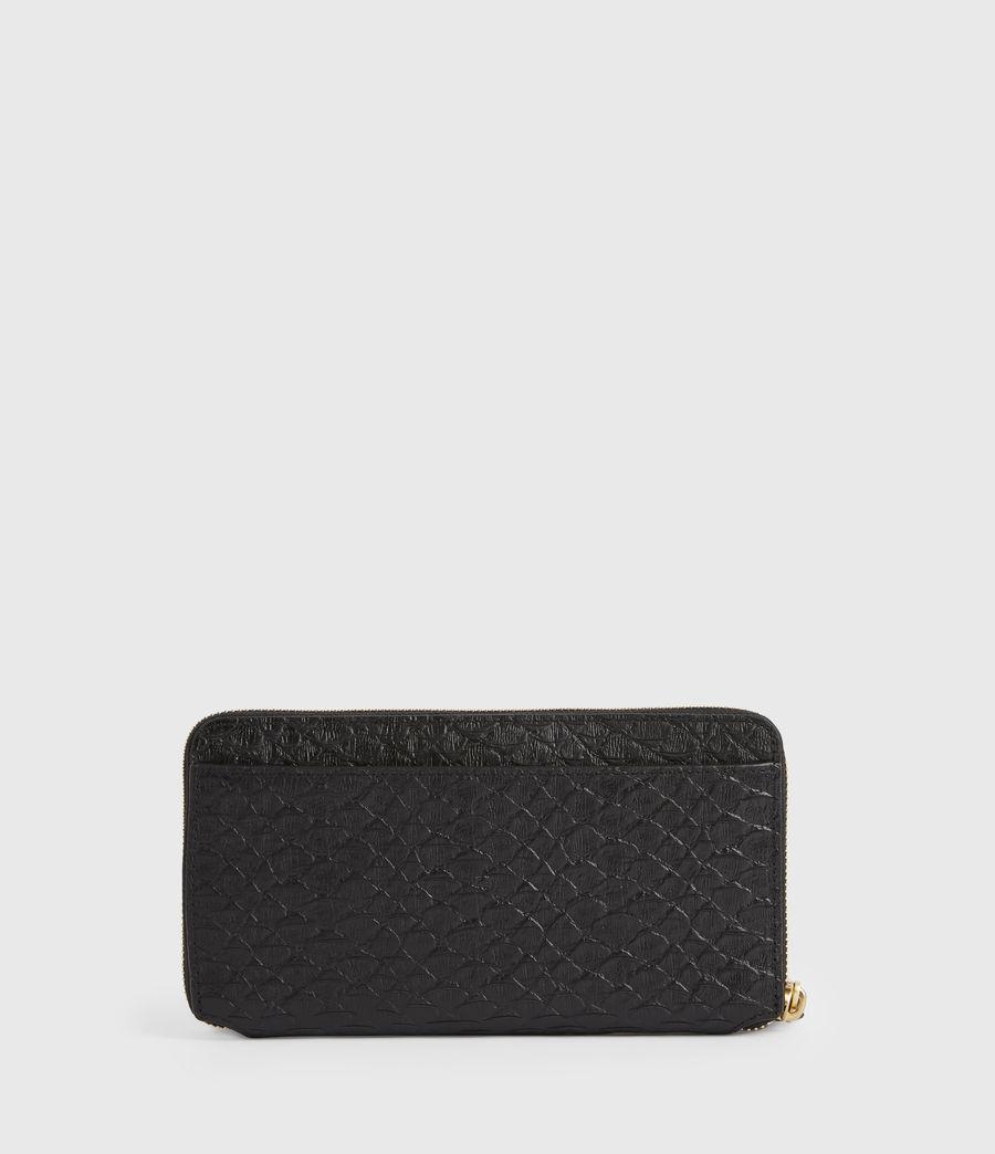 Women's Fetch Leather Phone Wristlet (black_python) - Image 5