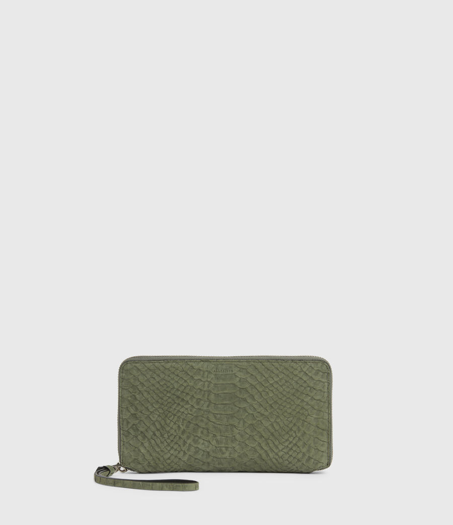 Women's Fetch Leather Phone Wristlet (sage_green) - Image 1