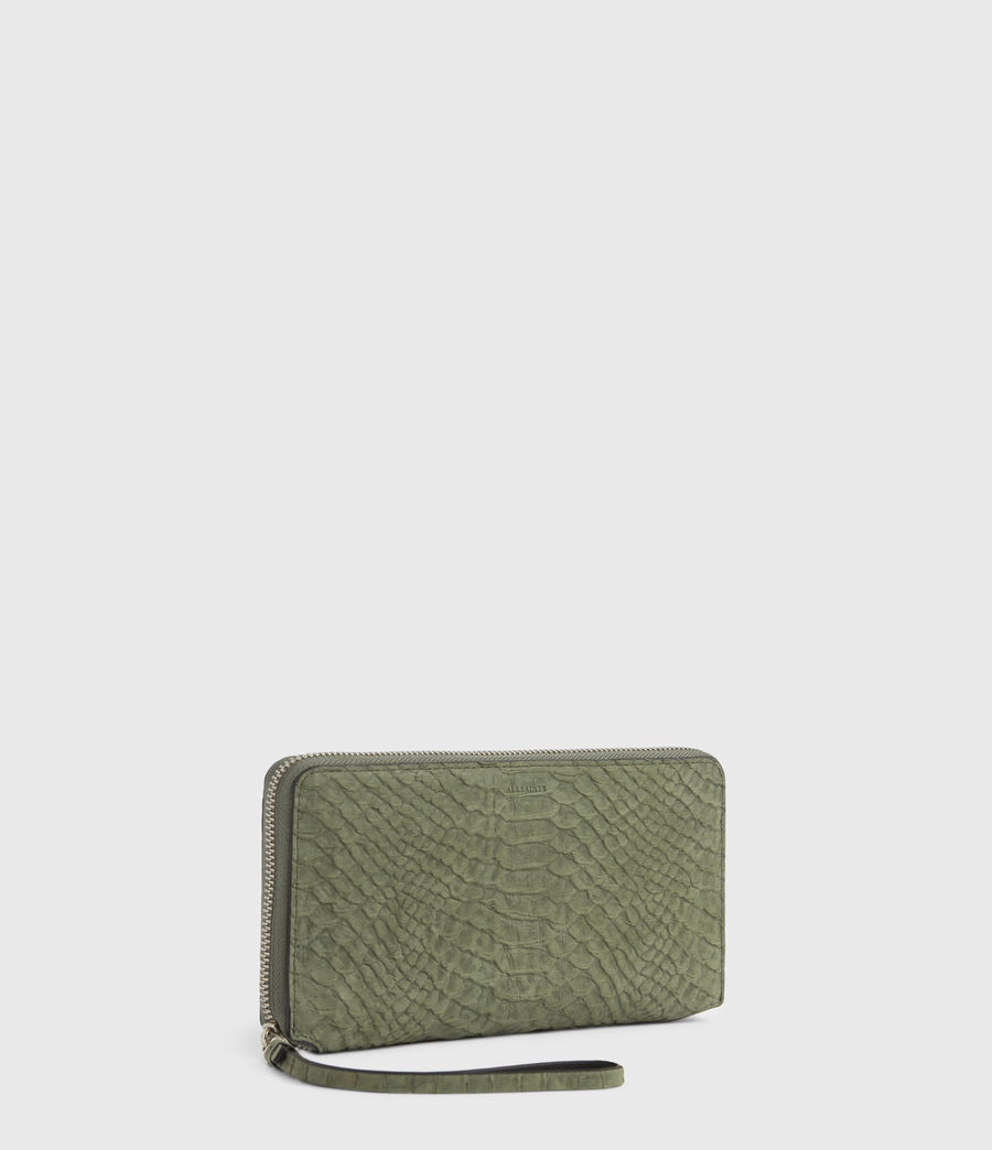 Women's Fetch Leather Phone Wristlet (sage_green) - Image 3