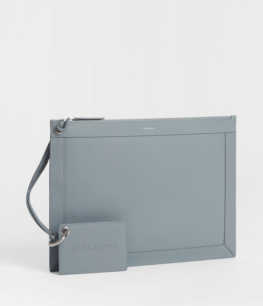 Women's Captain Lea Leather Clutch Bag (denim_blue) - Image 3
