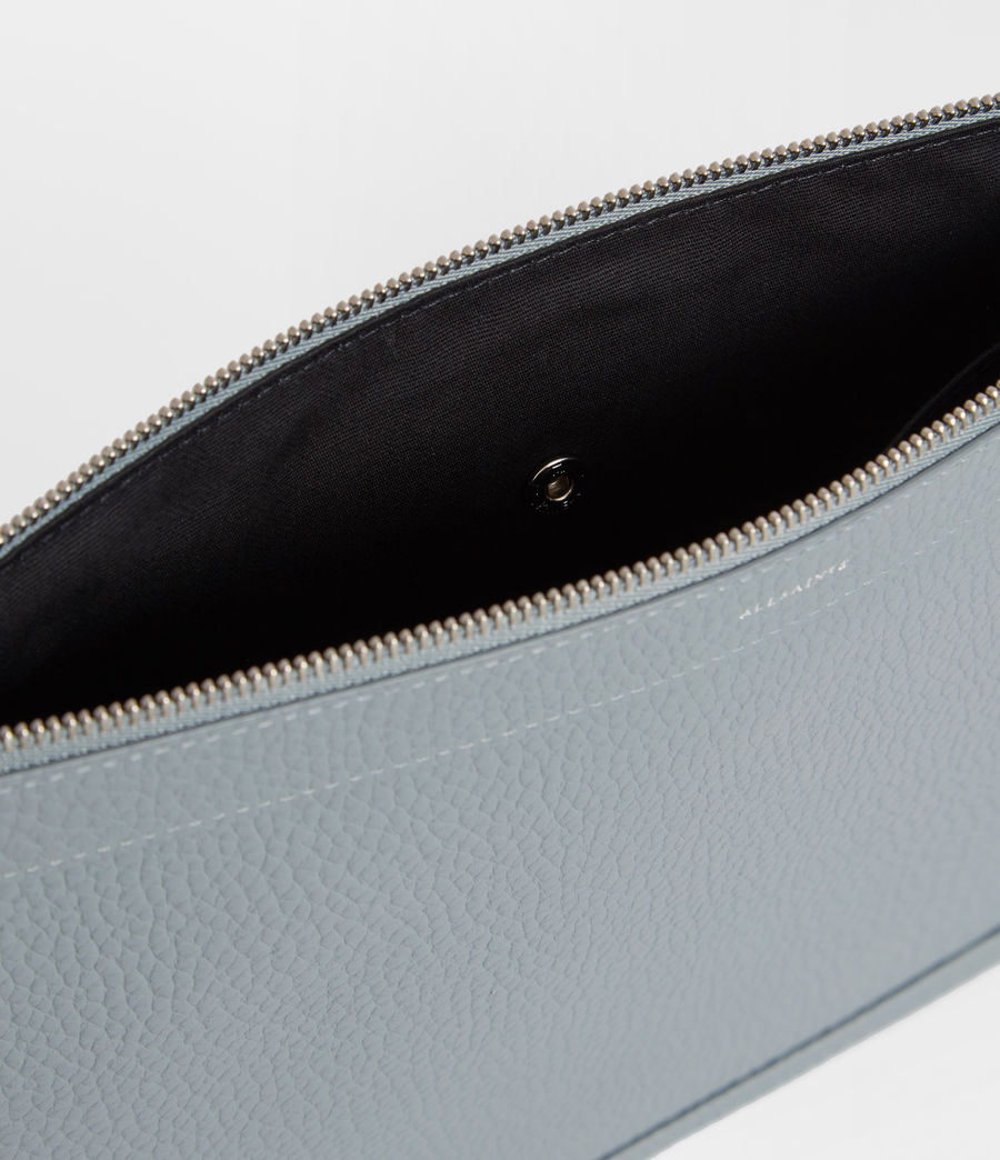 Womens Captain Lea Leather Clutch Bag (denim_blue) - Image 4