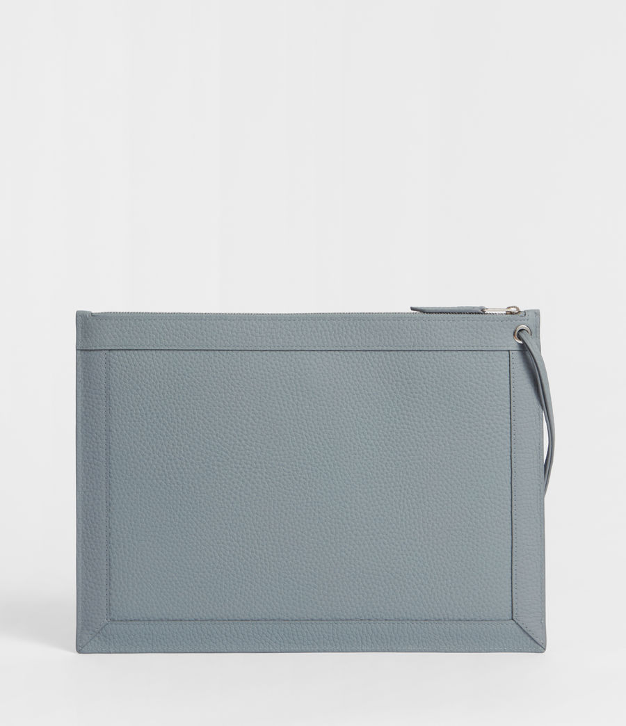Damen Captain Lea Leder Clutch (denim_blue) - Image 6