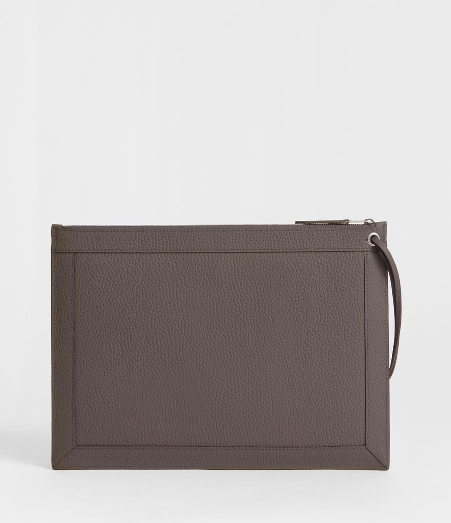 Damen Captain Lea Leder Clutch (storm_grey) - Image 3