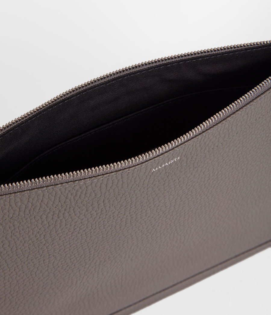 Damen Captain Lea Leder Clutch (storm_grey) - Image 4
