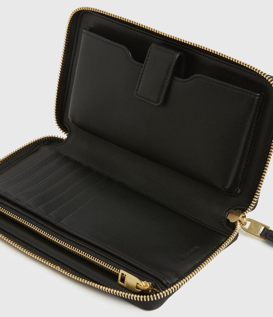 Damen Fetch Leather Phone Wristlet (squid_ink_blue) - Image 2