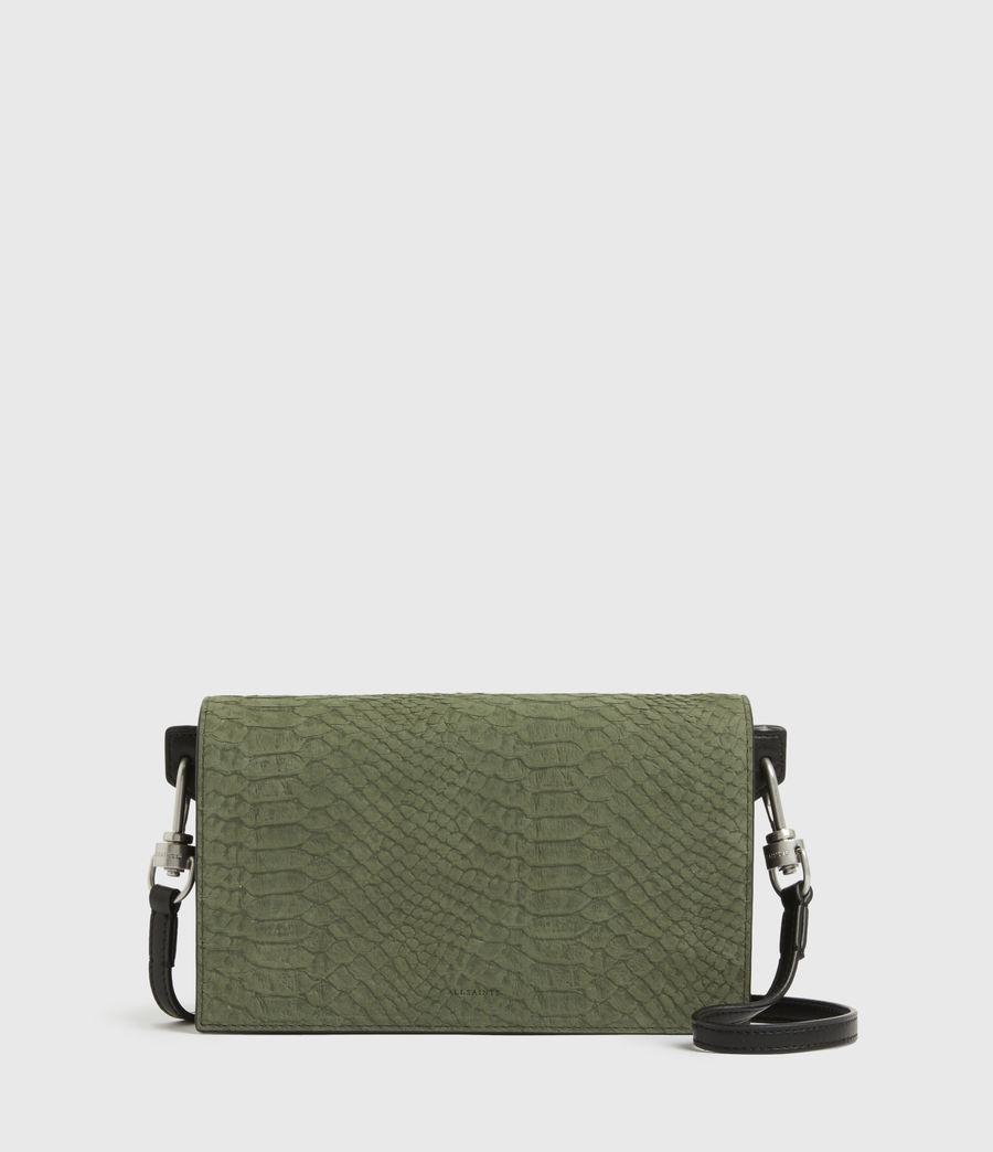 Womens Goldsmith Leather Python Crossbody Bag (sage_green) - Image 1