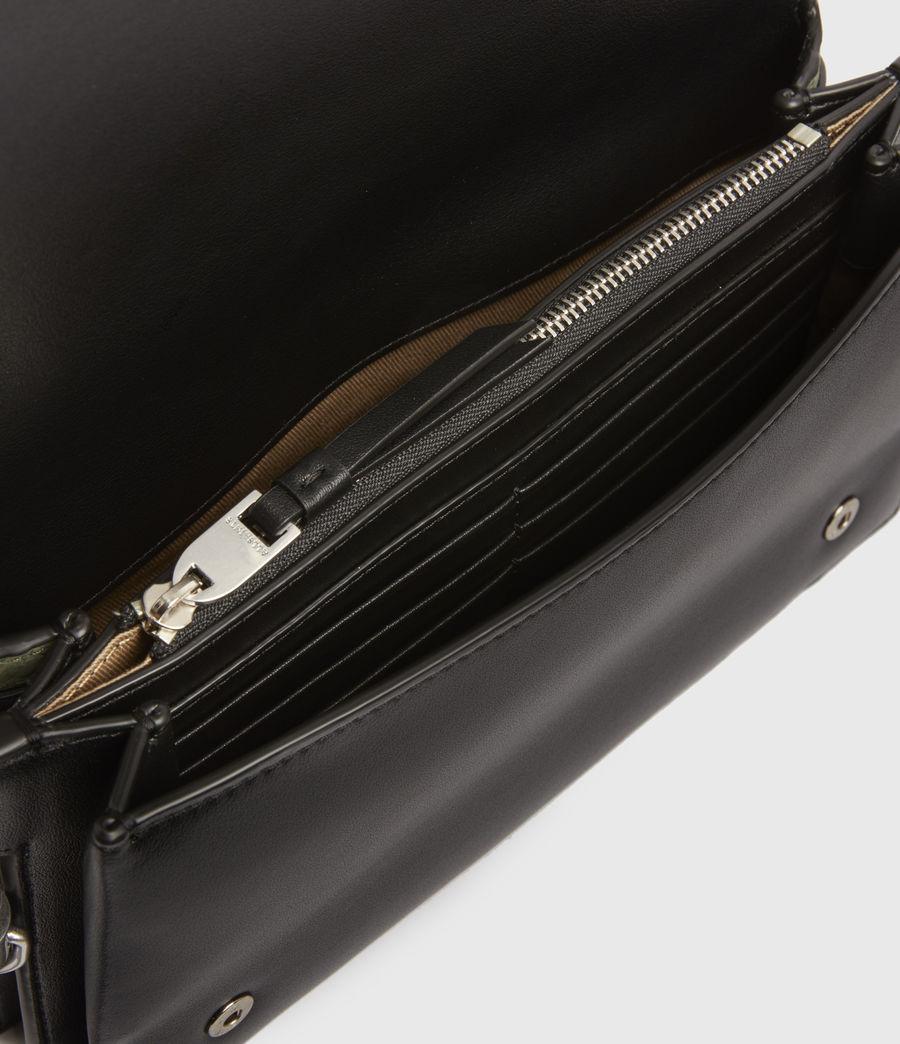 Womens Goldsmith Leather Python Crossbody Bag (sage_green) - Image 2