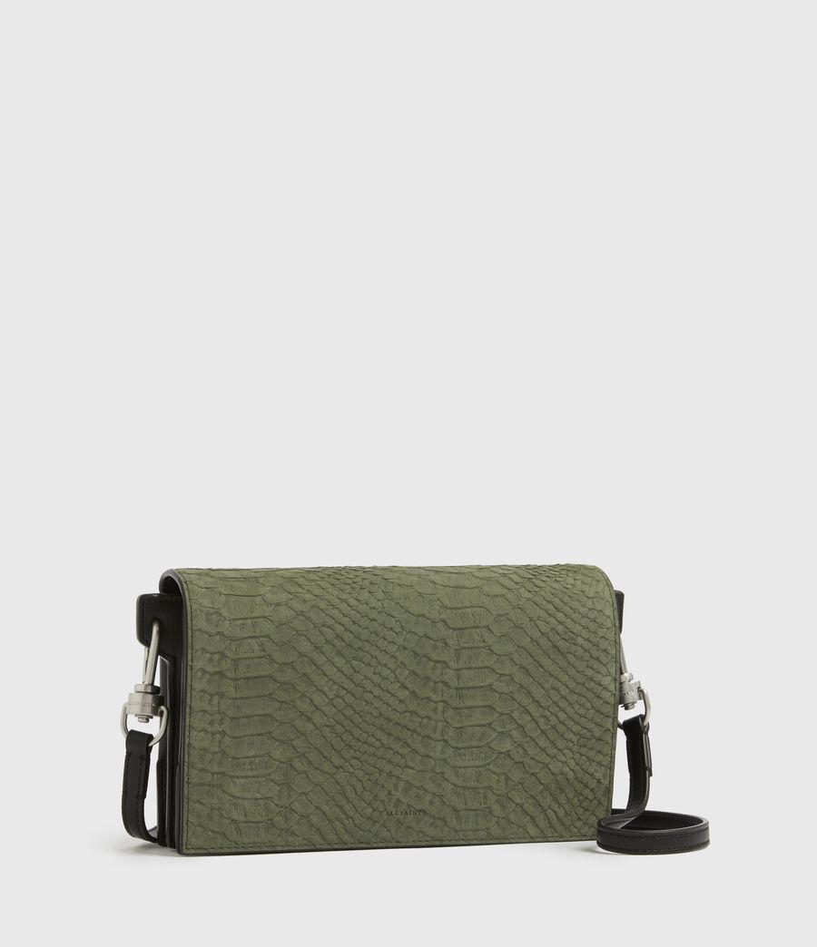Womens Goldsmith Leather Python Crossbody Bag (sage_green) - Image 3