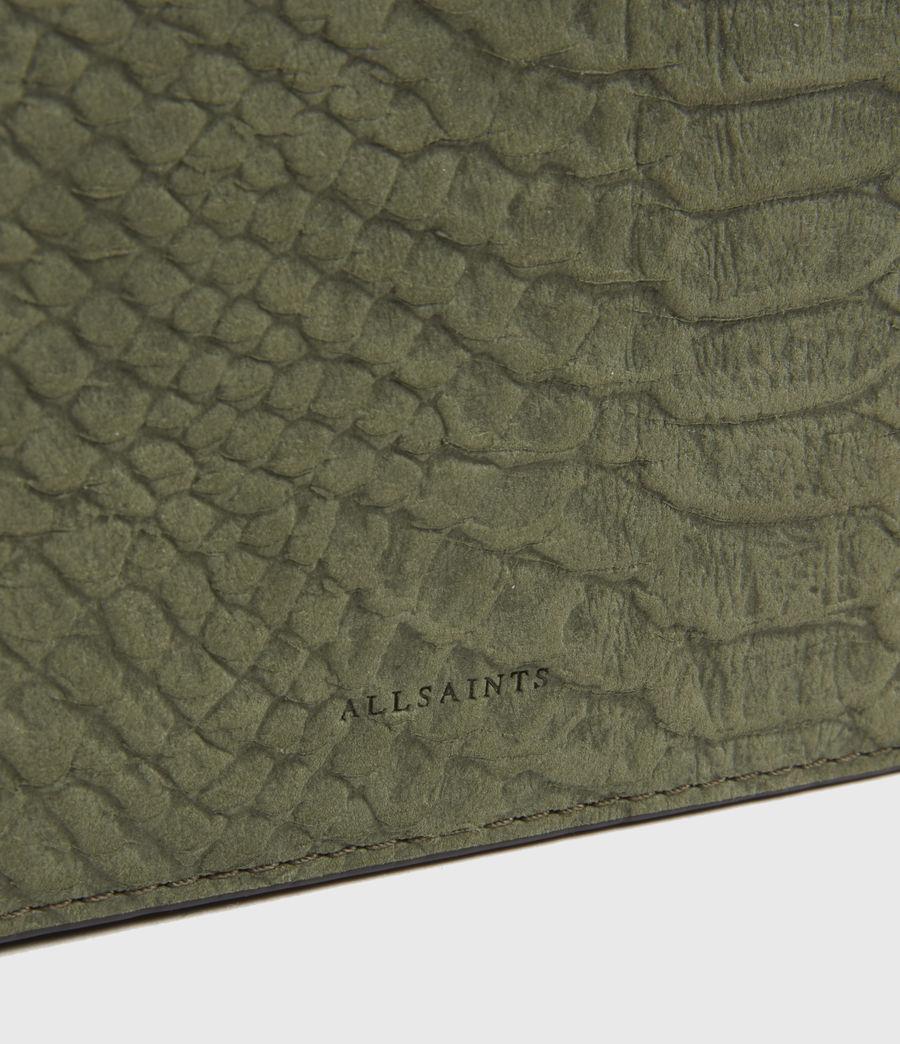 Womens Goldsmith Leather Python Crossbody Bag (sage_green) - Image 4