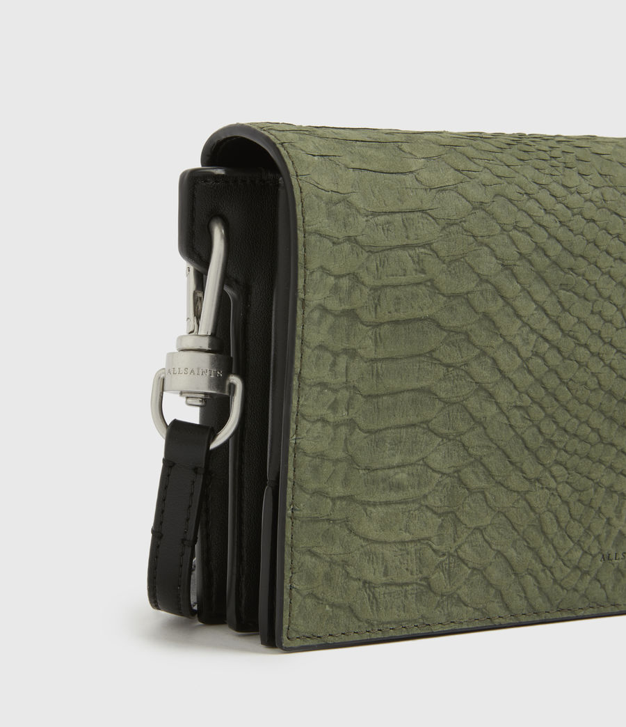 Womens Goldsmith Leather Python Crossbody Bag (sage_green) - Image 5