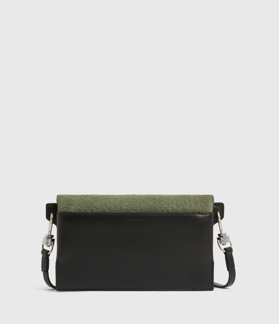 Womens Goldsmith Leather Python Crossbody Bag (sage_green) - Image 6