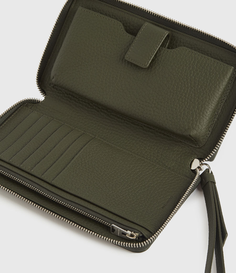 Women's Fetch Phone Leather Wristlet (khaki_green) - Image 2