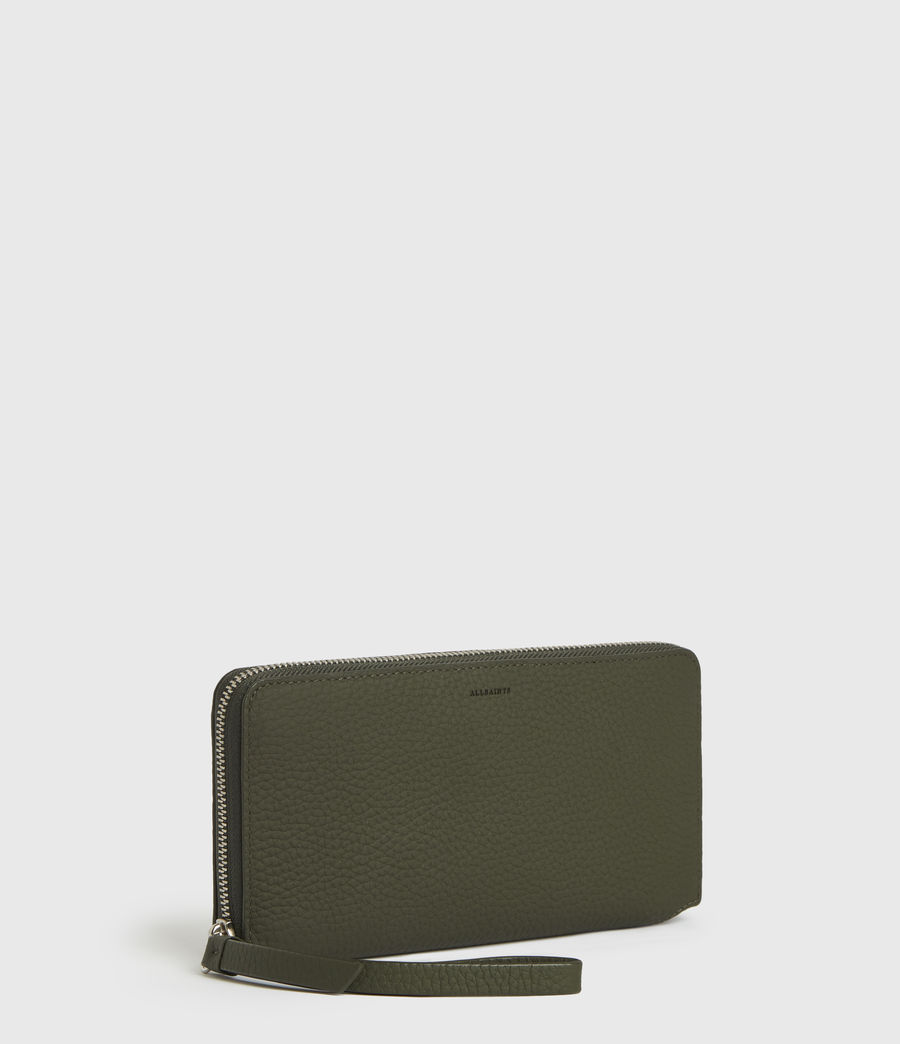 Womens Fetch Phone Leather Wristlet (khaki_green) - Image 3