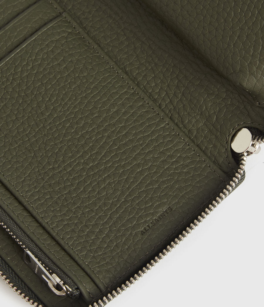 Women's Fetch Phone Leather Wristlet (khaki_green) - Image 5