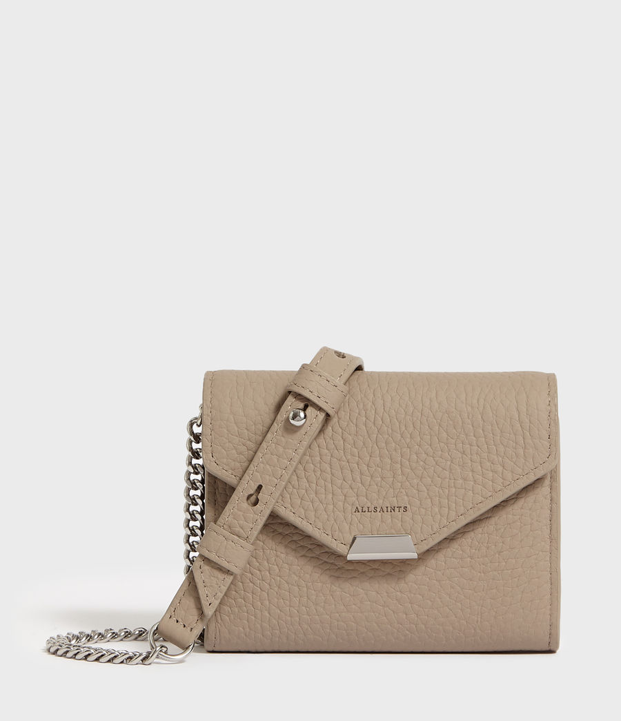 Mujer Captain Chain Leather Cardholder (dune) - Image 1