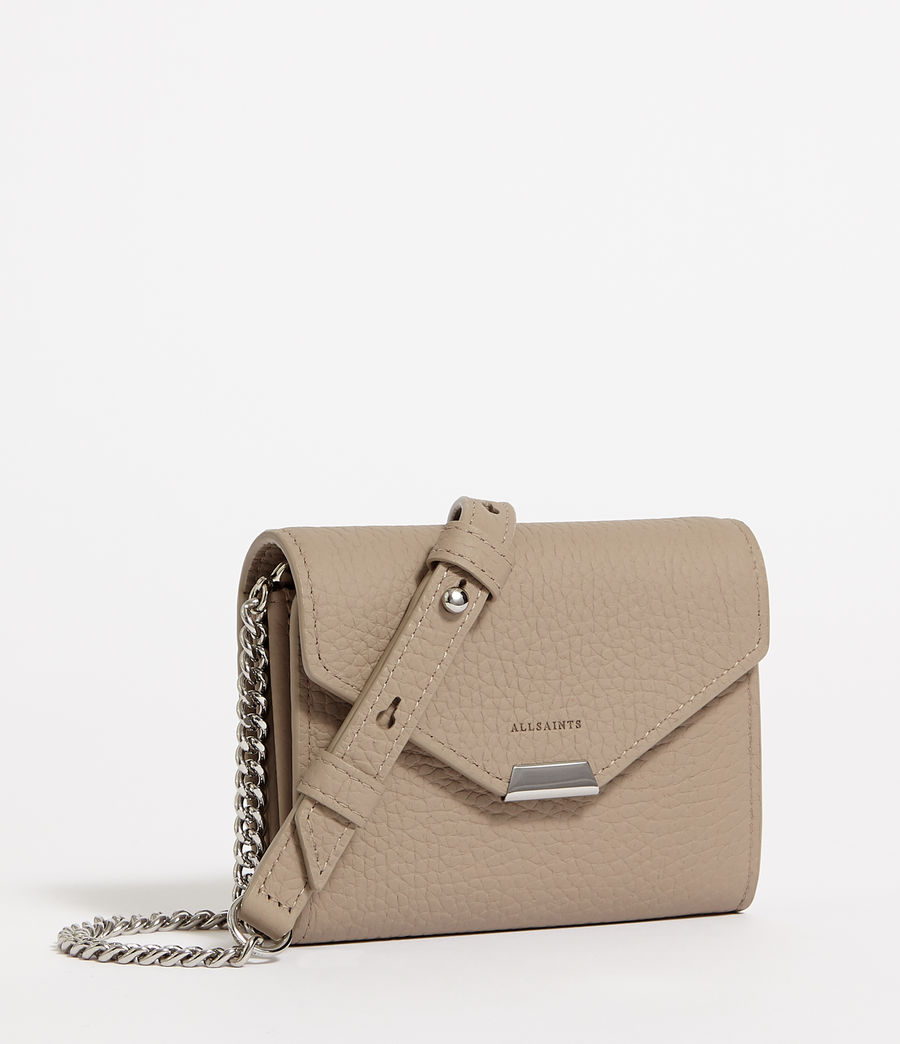 Mujer Captain Chain Leather Cardholder (dune) - Image 2