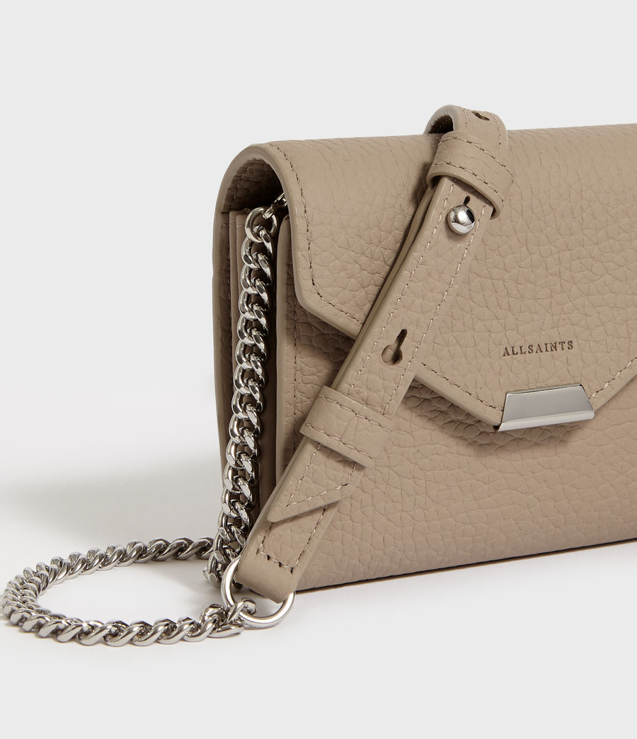 Mujer Captain Chain Leather Cardholder (dune) - Image 3