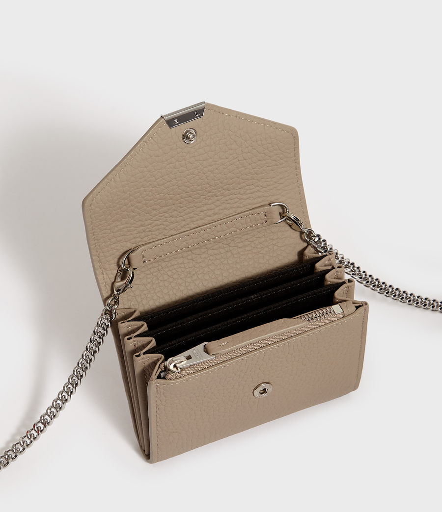 Mujer Captain Chain Leather Cardholder (dune) - Image 4