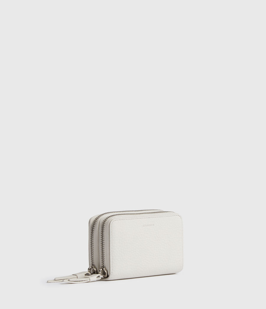 Women's Fetch Leather Cardholder (coral_pink) - Image 3