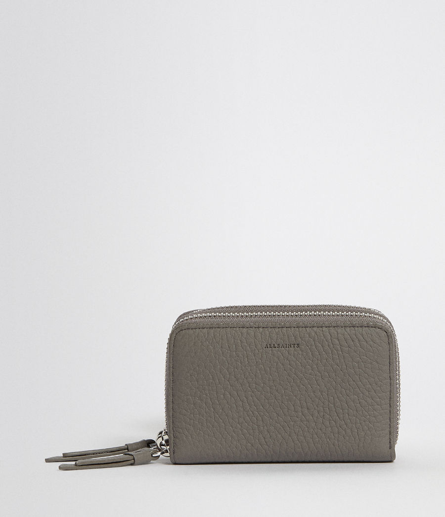 Women's Fetch Leather Cardholder (storm_grey) - Image 1
