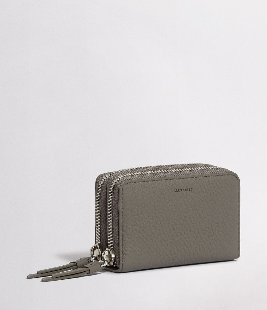 Women's Fetch Leather Cardholder (storm_grey) - Image 3