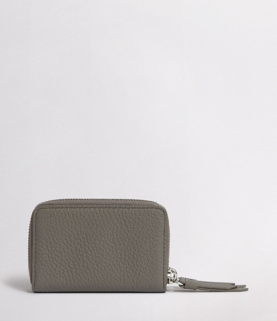 Women's Fetch Leather Cardholder (storm_grey) - Image 5
