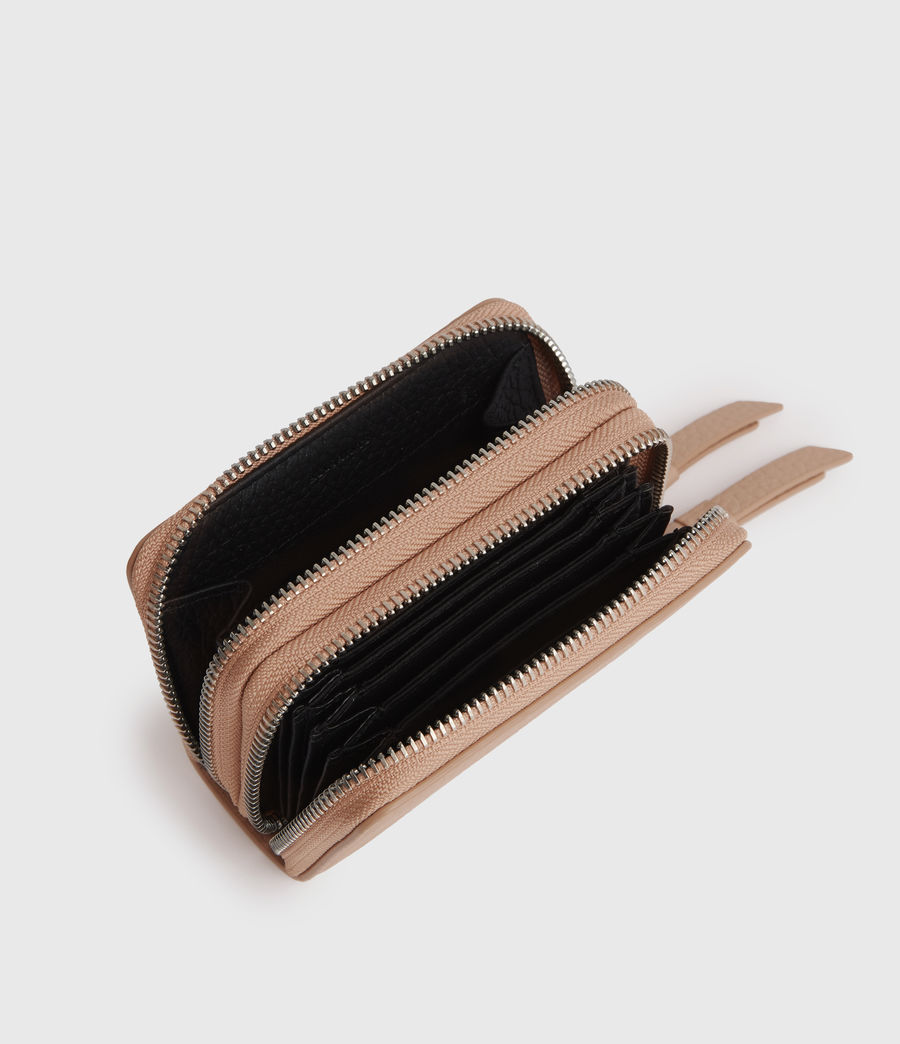 Womens Fetch Leather Cardholder (nude_pink) - Image 1