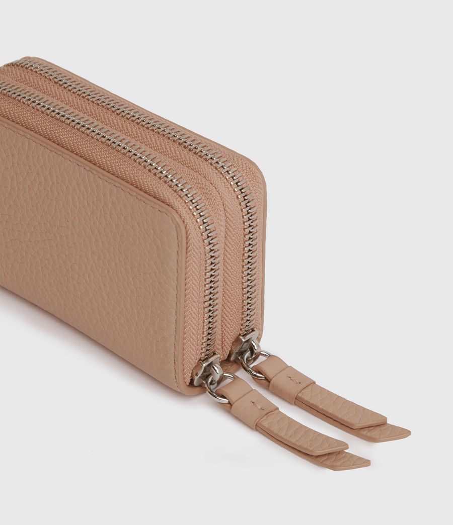 Womens Fetch Leather Cardholder (nude_pink) - Image 3