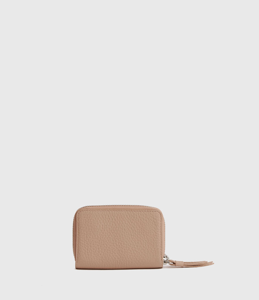 Womens Fetch Leather Cardholder (nude_pink) - Image 4
