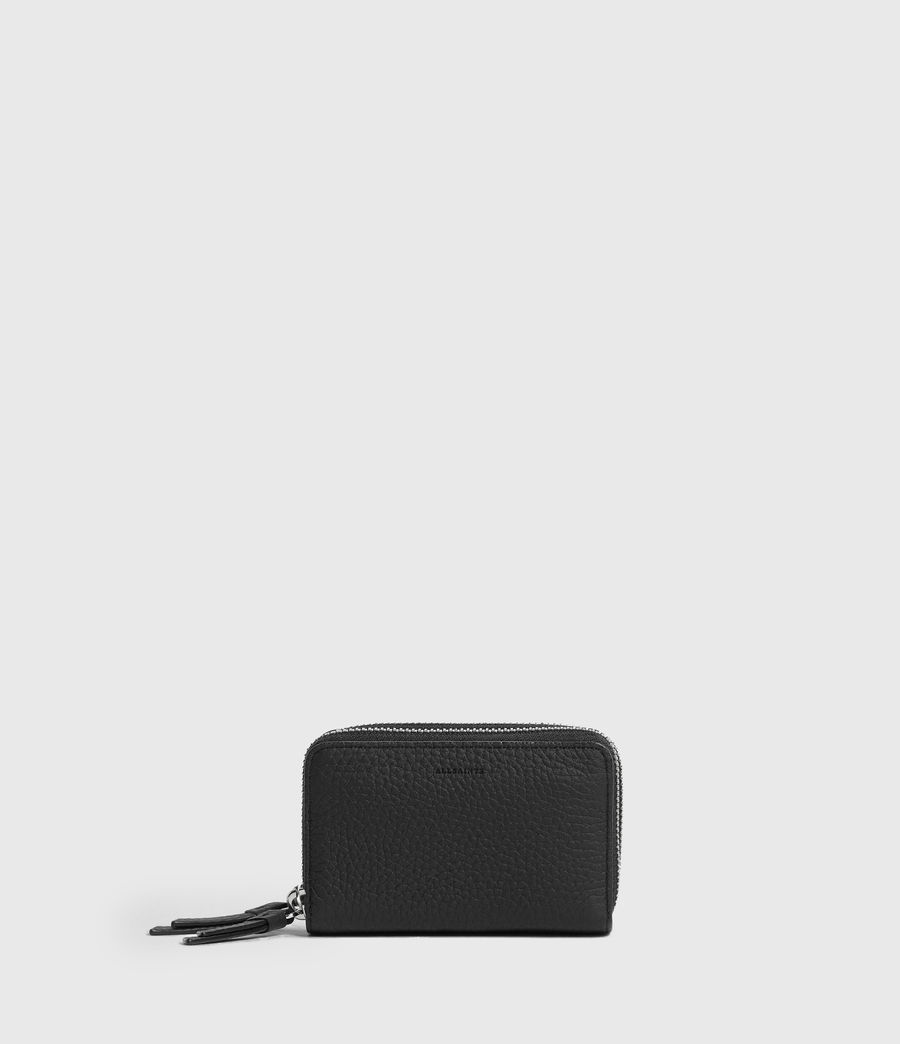 Womens Fetch Leather Cardholder (black) - Image 1