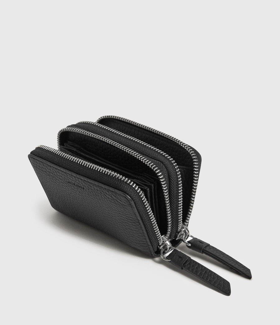Womens Fetch Leather Cardholder (black) - Image 4